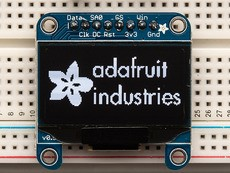 "Monochrome 1.3"" 128x64 OLED graphic display"