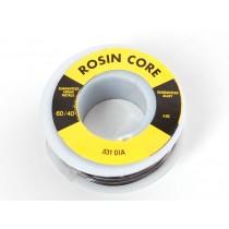 "Mini Solder spool - 60/40 lead rosin-core solder 0.031"" diameter - 100g"