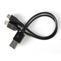 "USB cable - 8"" A to Mini B Charging and Micro B Data"