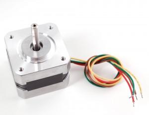 Stepper motor - NEMA-17 size - 200 steps/rev, 12V 350mA