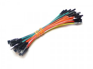 1 pin dual-female jumper wire 100mm 50pcs pack
