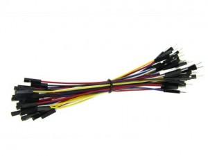 1 Pin Female-Male Jumper Wire 125mm (50pcs pack)