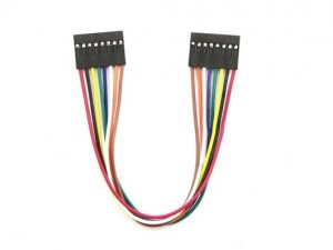 8 pin dual-female jumper cable- 150mm (5 PCs pack)