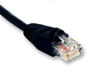 Ethernet LAN Wire - PATCH LEAD, CAT 5E, 3M BLACK