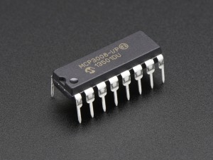 8-Channel 10-Bit ADC With SPI Interface MCP3008